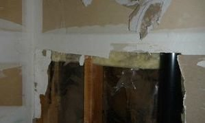 Fire Damaged Walls After Kitchen Fire