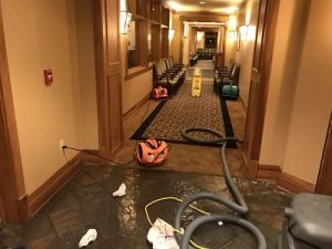 Flood Cleanup and Drying Services in a Hotel