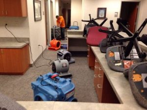 Water Mitigation Services in a Commercial Building